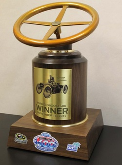 Sharp Finishing LLC - NASCAR Trophy - powder coating toledo